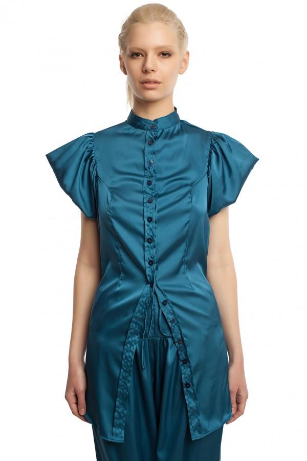 Атласные брюки и блузка БТ005-2