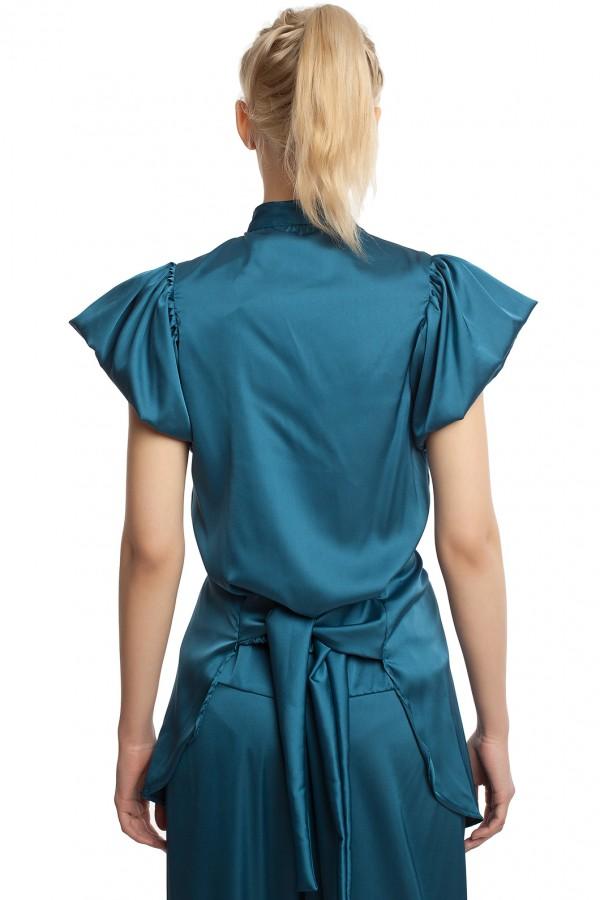 Атласные брюки и блузка БТ005-3