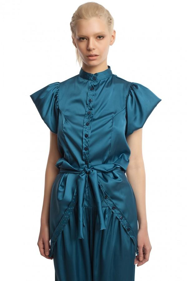 Атласные брюки и блузка БТ005-4