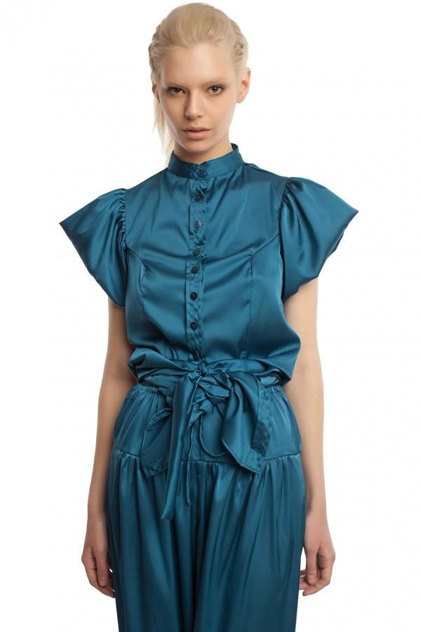 Атласные брюки и блузка БТ005-5