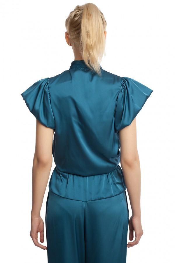 Атласные брюки и блузка БТ005-6