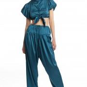 Атласные брюки и блузка БТ006-1