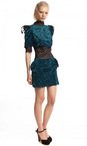 Бархатное платье-мини БК001-2-2