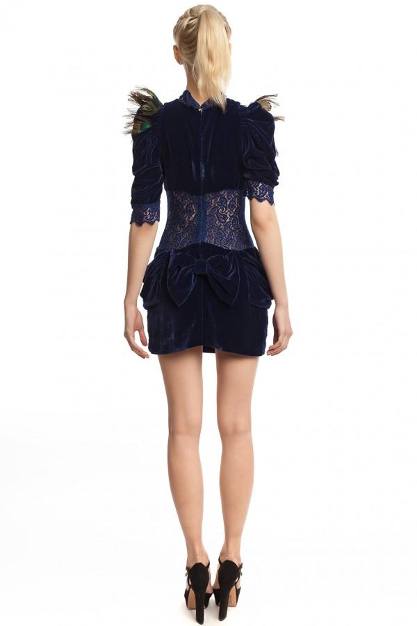 Бархатное платье-мини БК001-3