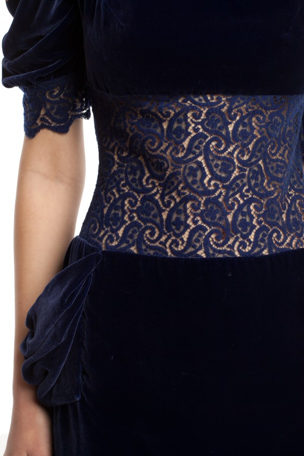 Бархатное платье-мини БК001-5