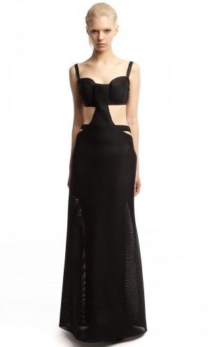 Длинное платье неопрен ЛБ012-1