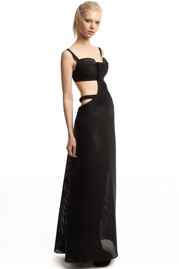 Длинное платье неопрен ЛБ012-2