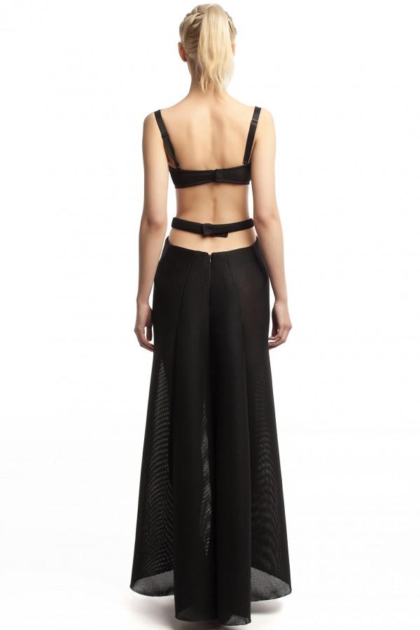 Длинное платье неопрен ЛБ012-3