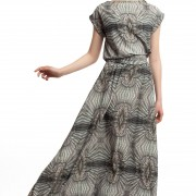Длинное платье с принтом ЛБ006-2
