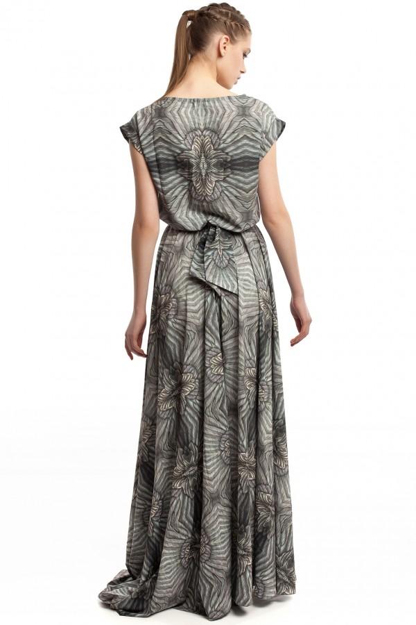 Длинное платье с принтом ЛБ006-4