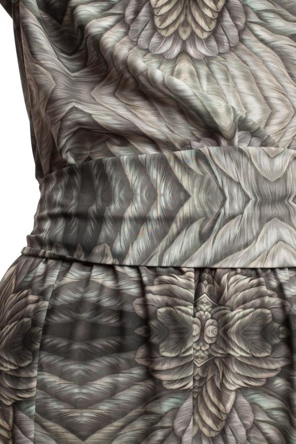 Длинное платье с принтом ЛБ006-6