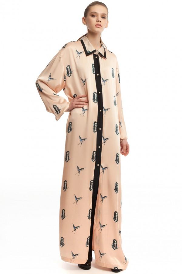 Длинное платье-халат ЛБ005-1