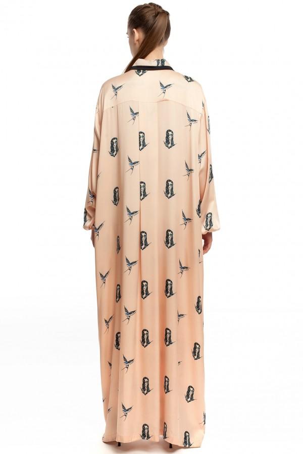 Длинное платье-халат ЛБ005-2