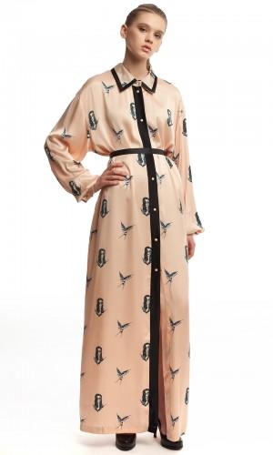 Длинное платье-халат ЛБ005-3