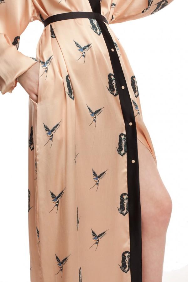 Длинное платье-халат ЛБ005-5
