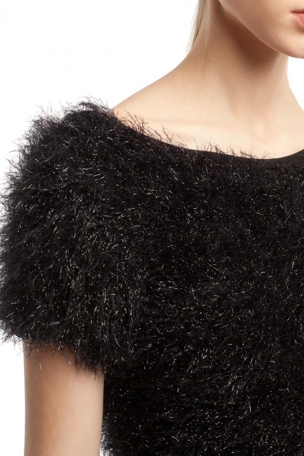Длинное черное платье ЛБ013-1-3