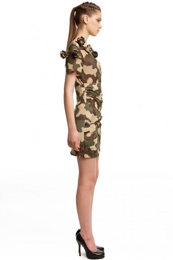 Мини-платье камуфляж БТ002-2