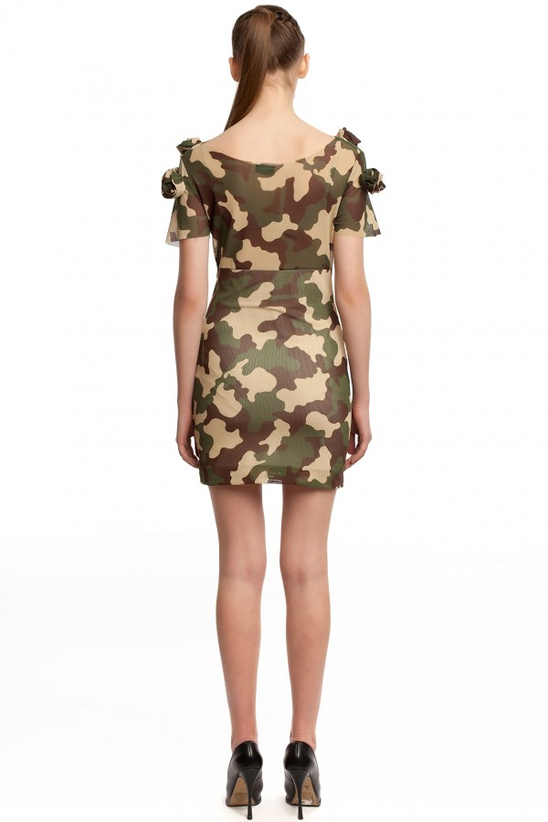Мини-платье камуфляж БТ002-3