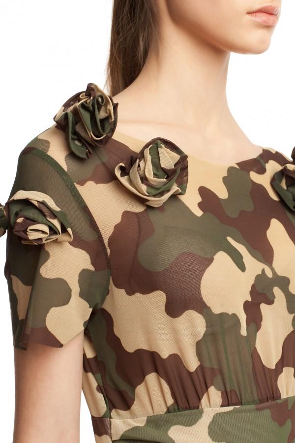 Мини-платье камуфляж БТ002-4
