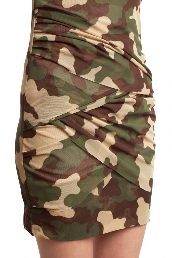 Мини-платье камуфляж БТ002-5
