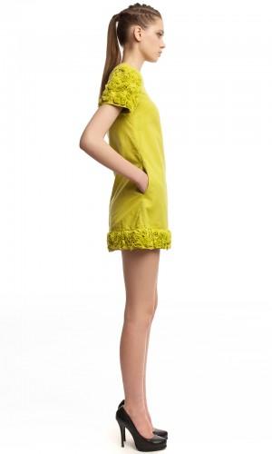 Мини-платье с отделкой БТ010-2
