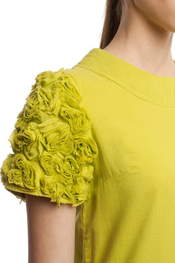 Мини-платье с отделкой БТ010-3