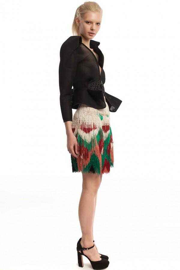Мини-юбка с бахромой ЛБ016-2