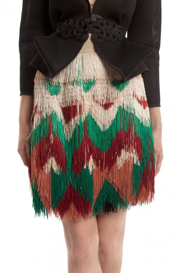 Мини-юбка с бахромой ЛБ016-3