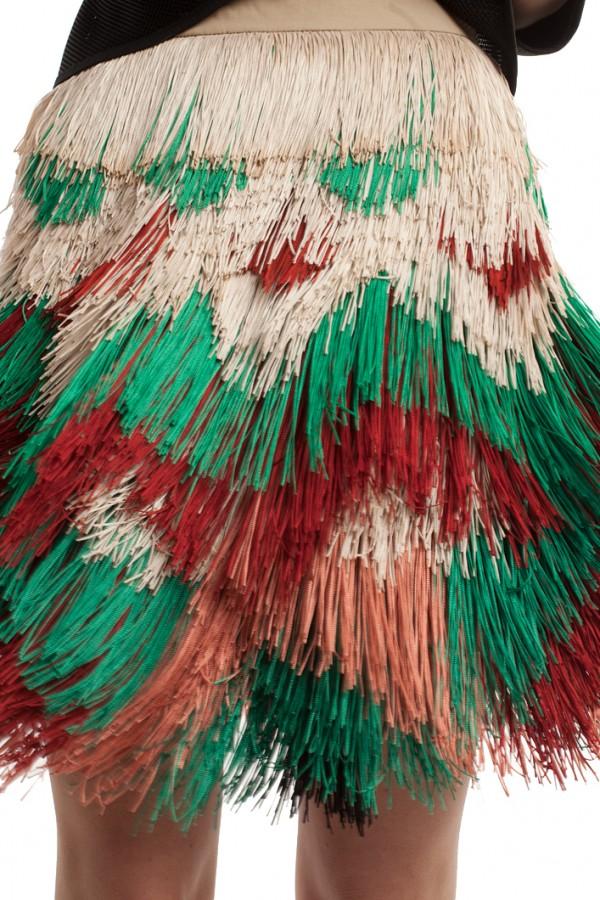 Мини-юбка с бахромой ЛБ016-4