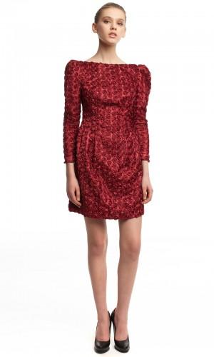 Нарядное платье с розочками БК005-1