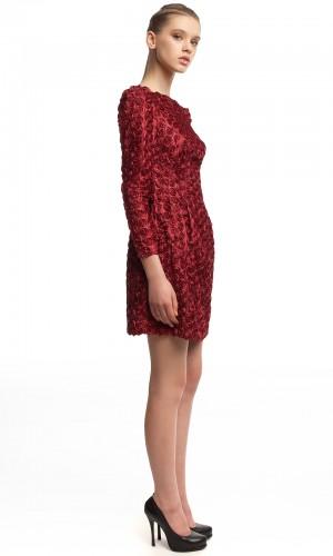 Нарядное платье с розочками БК005-2