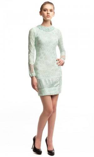 Платье голубое стрейч БТ016-1