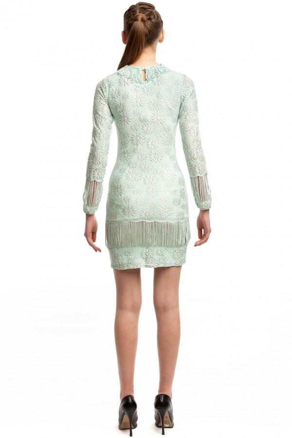 Платье голубое стрейч БТ016-2