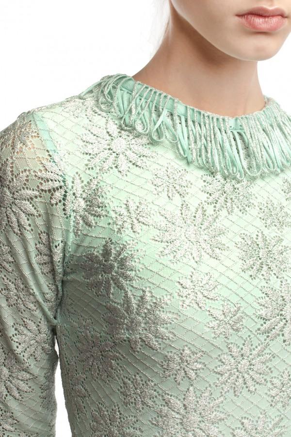 Платье голубое стрейч БТ016-3