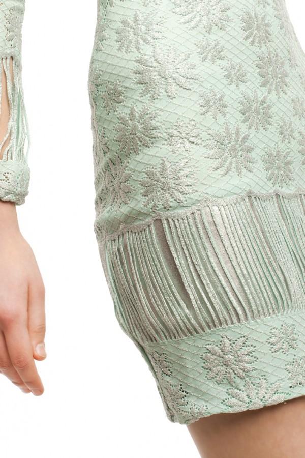 Платье голубое стрейч БТ016-4