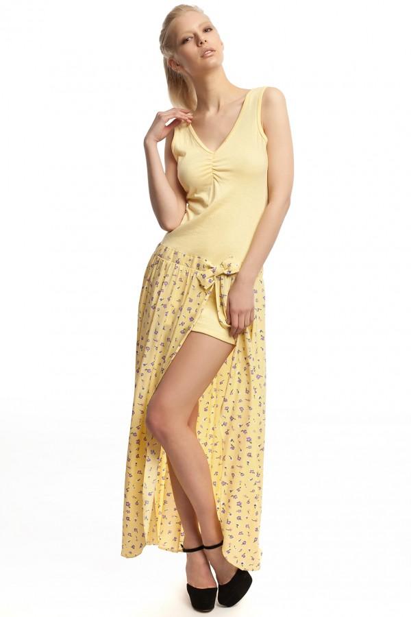 Платье длинное желтое БТ017-1