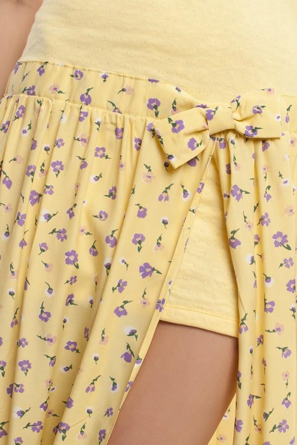 Платье длинное желтое БТ017-4