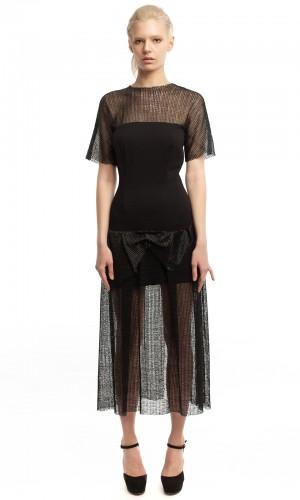 Черное платье ЛБ010-1