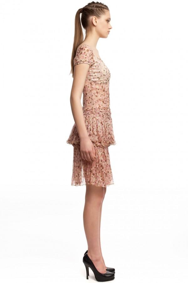 Шифоновое платье в горошек БТ001-01 2