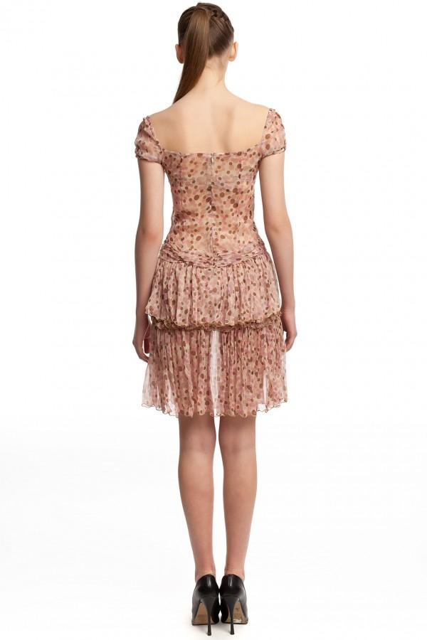 Шифоновое платье в горошек БТ001-01 3