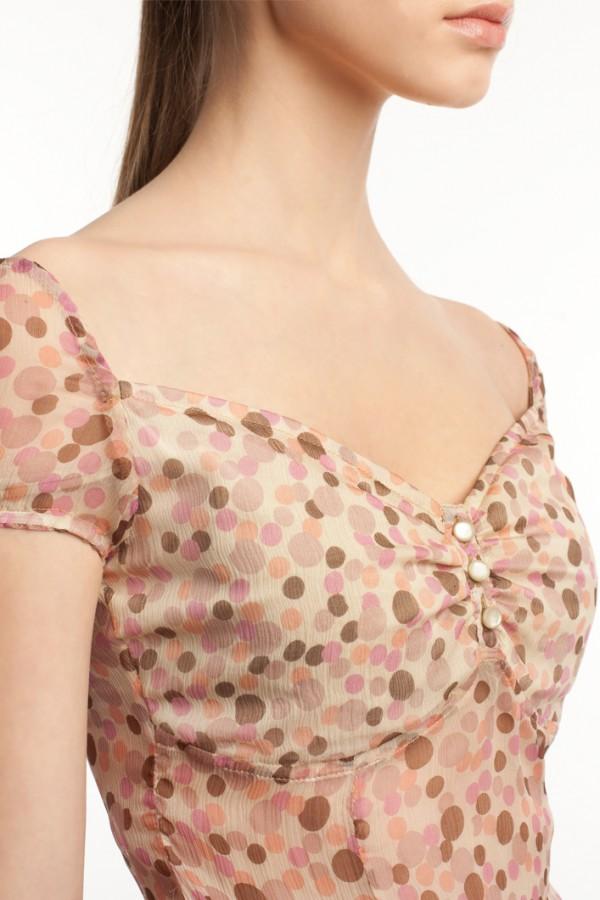 Шифоновое платье в горошек БТ001-01 4