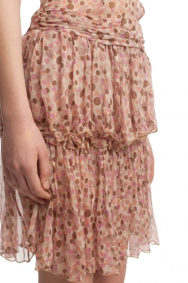 Шифоновое платье в горошек БТ001-01 5