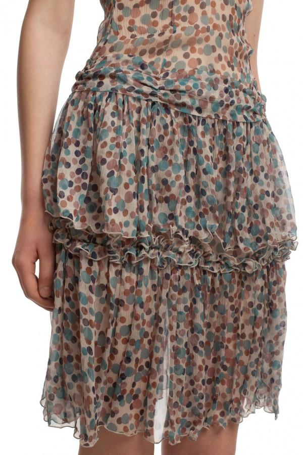 Шифоновое платье в горошек БТ001-2-5