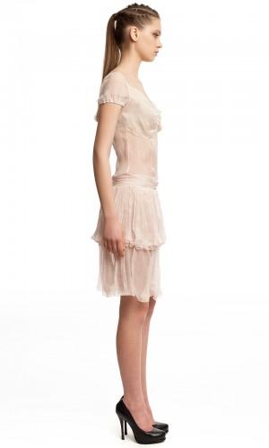 Шифоновое платье в горошек БТ001-3-2