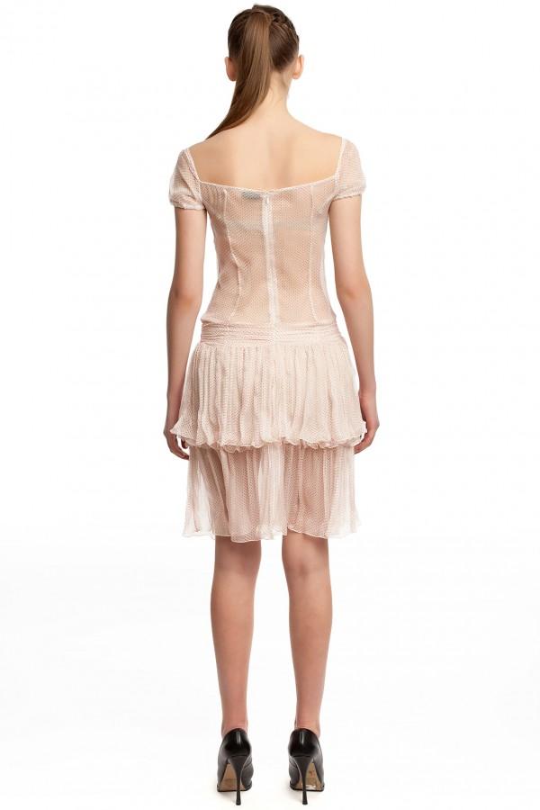 Шифоновое платье в горошек БТ001-3-3