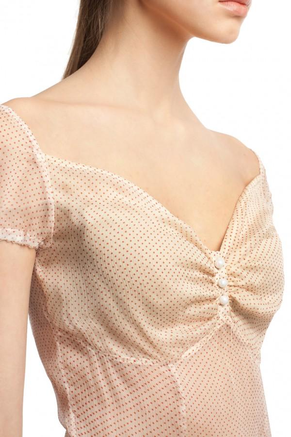 Шифоновое платье в горошек БТ001-3-4