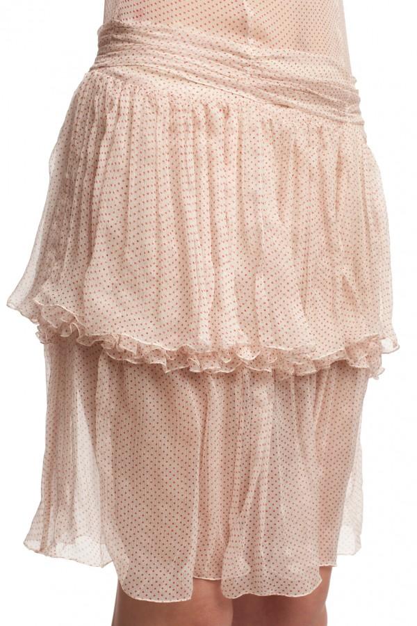 Шифоновое платье в горошек БТ001-3-5