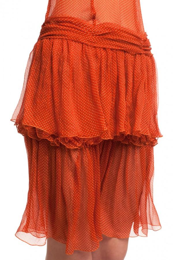 Шифоновое платье в горошек БТ001-4-5