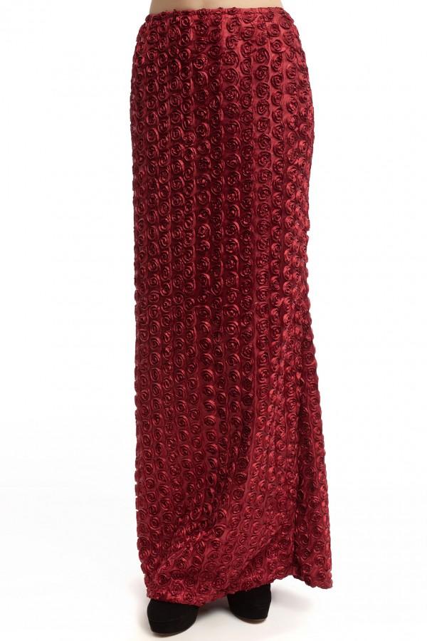 Юбка длинная в розочки БК006-4